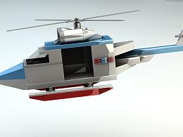 C4D建模小飞机