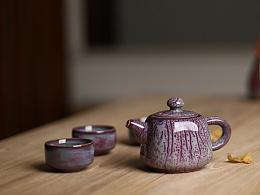 杨俊峰钧瓷茶壶套装系列 器世界精品钧瓷套装茶具 一壶四杯 钧瓷茶壶钧窑茶杯