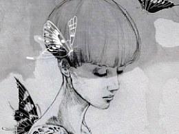 罂粟花中的女性