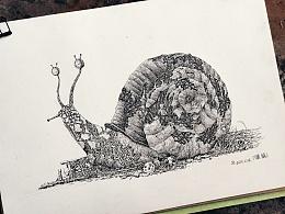 插画创作 《漩蜗》