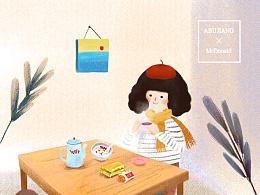 麦当劳合作项目- 早餐&励志话语系列动图 4p