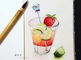 近期水彩食物插畫