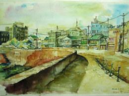 战后东京(水彩)