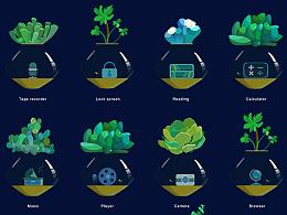 多肉植物icon App界面 主题icon瀑布流