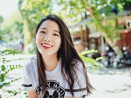你的微笑,棉花糖般甜美。