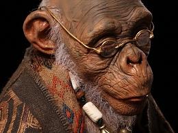 末那原创手办丨《老猿》