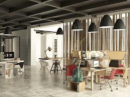 办公空间效果图