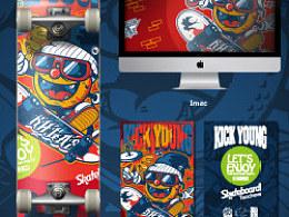 KICKYOUNG滑板趴海报设计