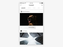 Simple design for Unsplash