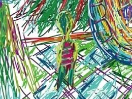 抽象画《我的世界》