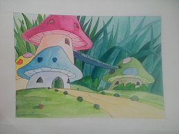 水彩儿童动画场景