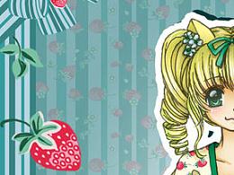 ①汉元素服装设计图+成品(草莓篇)