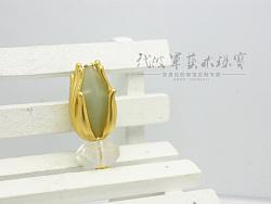 代波军艺术珠宝定制----玉见佛手,古玉镶嵌设计作品欣赏
