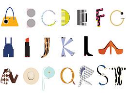时尚主题字母设计