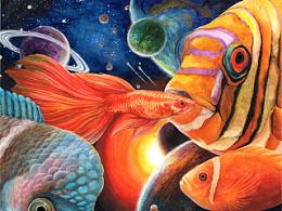 《仙游蓬莱》 水彩手绘过程