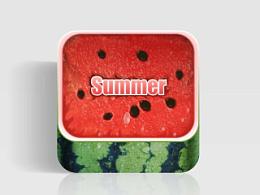 夏天来了,自撸了一枚西瓜!