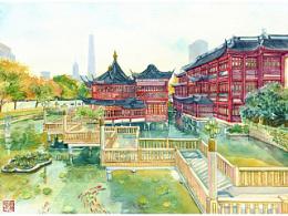 手绘城市系列——《新版上海》