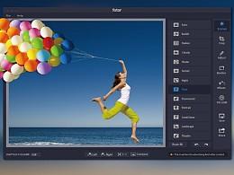 Fotor界面设计稿,其中两个飞机稿,最终稿可以自己去MAC下载。