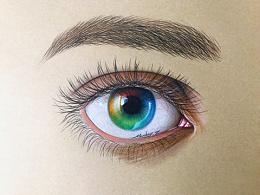 MZ手绘眼睛里的美