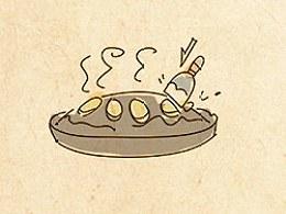 手绘食谱《烙锅洋芋》