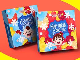 【爱哆哆】花花宝贝系列 卡通包装设计  爱哆哆诞生礼包装设计