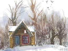 几所孤独的小房子