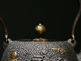 沐焱堂 乘风破浪铁壶 铸铁 鎏金无涂层纯铁煮 养生茶壶出口日本