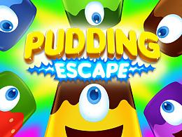 独立游戏《PuddingEscape》的一些设定稿和正稿