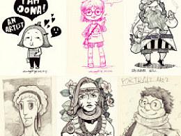 丁几2013年8月整理人物插画若干