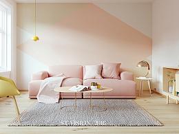 [斯特]-muuto粉色系沙发