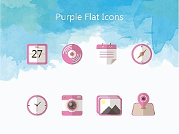 扁平化Icons-6枚:颜色很好看【原创】