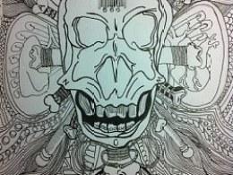 针管笔练习画--兽印666