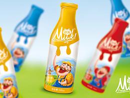 品牌牛奶包装系列包装设计案例