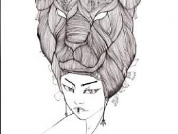 JAMU时尚插画:发丝的艺术(1)
