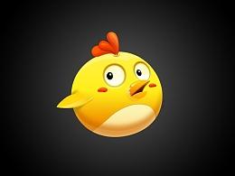惊讶的小鸡