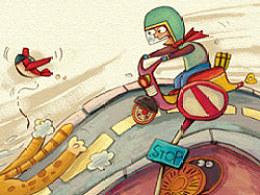 睡前365奇异篇◆香蕉旅人插画◆已出版