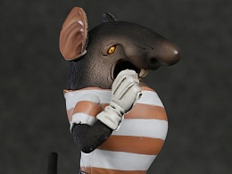 """末那原创丨老动画系列第2弹《黑猫警长》""""吃猫鼠""""PVC手办"""