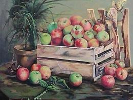 苹果 油画 插画 创作