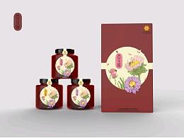 百花园蜂蜜包装设计