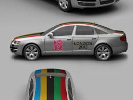 奥迪汽车车体彩绘