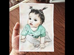 瓀妹子-水彩画像