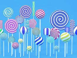C4D-棒棒糖