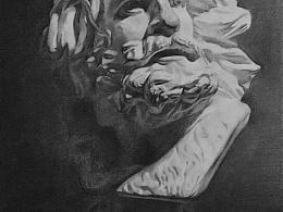 石膏像马赛素描