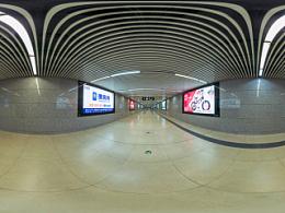 地铁8号线通道全景拍摄