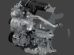 发动机(PS绘制)