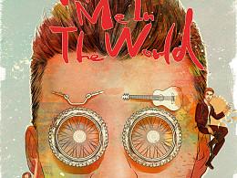 《世界上的另一个我》纪录片海报插画