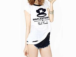 冒险岛2&Paul Frank(大嘴猴)设计联名款服装图案