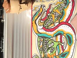 *蛇vs龍*——OLD SCHOOL-纹身手稿