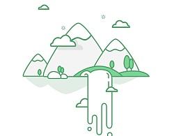 绿艺-植物电商购物生活类app欢迎页/引导页