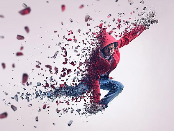 psv粒子粒子3d动作打散飞溅人像效果现代风家具六合无绝对图片